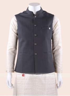 Sleeveless Grey Color Koti