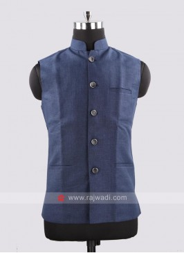 Sleeveless Navy Color Koti