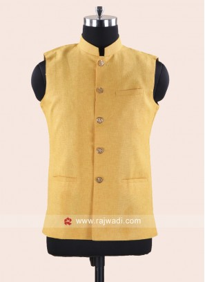 Sleeveless Yellow Color Koti