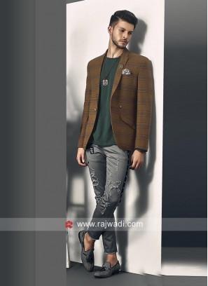 Attractive Brown Blazer For Wedding