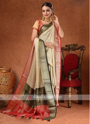 soft silk checks gadwal saree