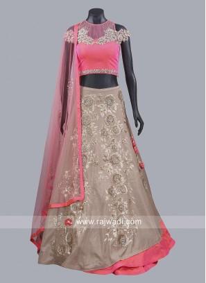 Soft Silk Double Layered Lehenga Choli