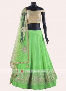 Soft Silk Embroidered Lehenga