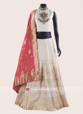 Soft Silk Embroidered Lehenga Choli