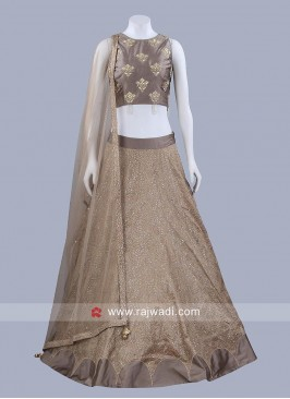 Soft Silk Embroidered Lehenga Set