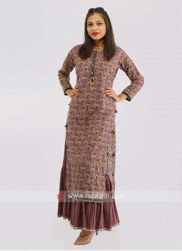 Soft Silk Floor Length Kurti