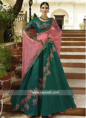 Soft silk Heavy Unstitched Lehenga