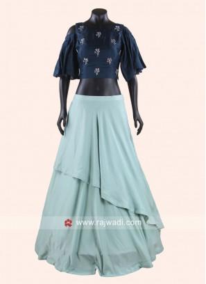Soft Silk Layered Lehenga Choli