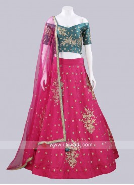 Soft Silk Readymade Lehenga Set