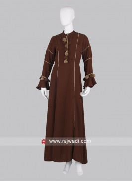 Solid Brown Maxi Dress