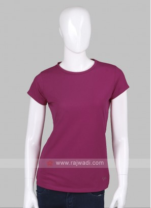 Solid Rani Round Neck T-shirt