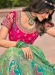 Sonorous Banarasi Silk Wedding Bollywood Lehenga Choli
