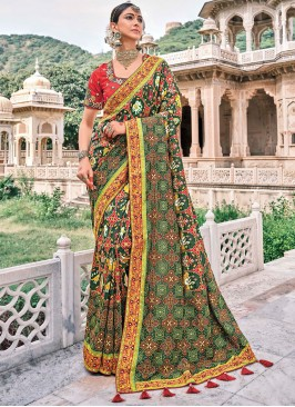 Sophisticated Embroidered Wedding Contemporary Saree