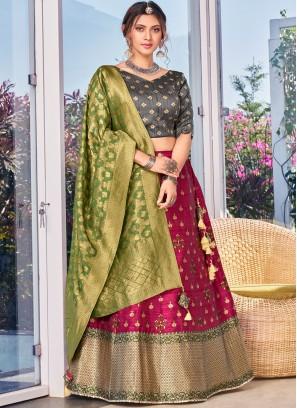 Sorcerous Weaving Pink Designer Lehenga Choli