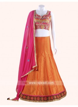 Sparkling Raw Silk Chaniya Choli Set
