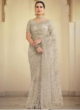 Specialised Net Wedding Designer Saree