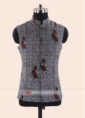 Stand Neck Cotton Fabric Koti