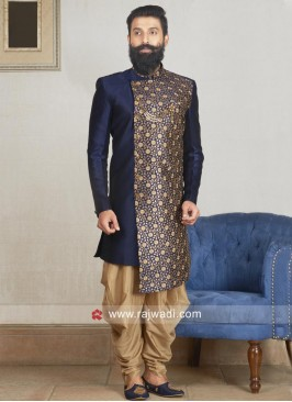 Navy Indo Western For Wedding
