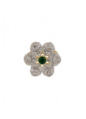 Star Round Green Stone Ring