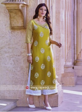Straight Fit Shaded Crepe Kurti