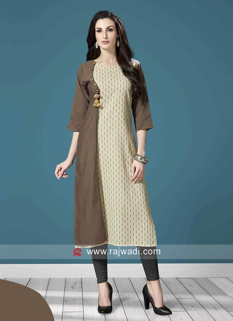 Staright Fit Stitched Kurti