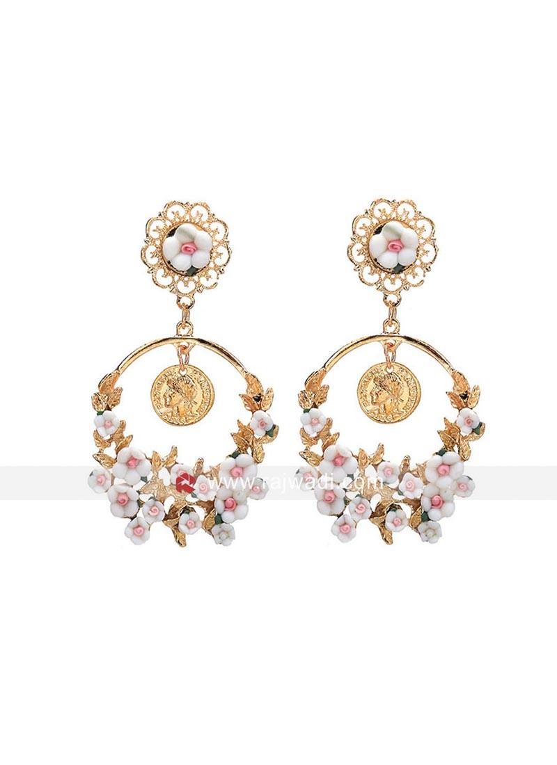 Statement Clay Flower Earrings