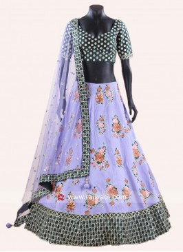 Stitched Flower Embroidered Lehenga