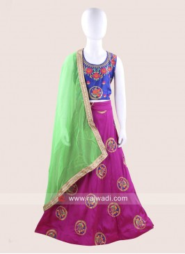 Stitched Traditional Chaniya Choli for Kids