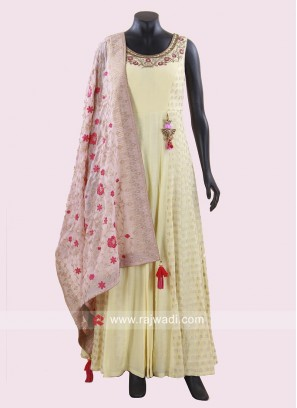 Stone and Diamond Work Anarkali Suit