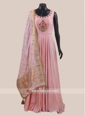 Stone and Resham Work Anarkali Suit