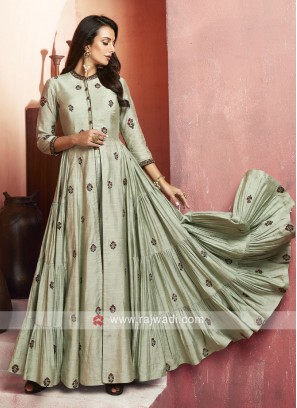 Stone and Zari Work Palazzo Suit