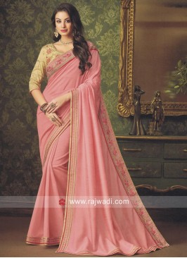 Stone Work Art Silk Saree
