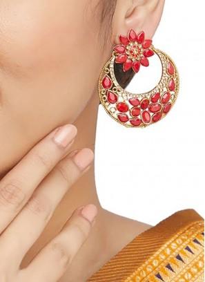 Stone Work Bollywood Style Earrings