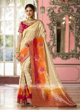 Stone Work Checks Saree