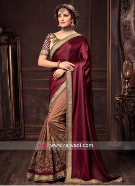 Stone Work Half Sari