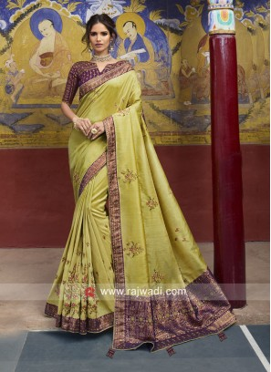Stone Work Heavy Saree for Wedding