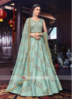 Stone Work Long Anarkali Salwar Kameez
