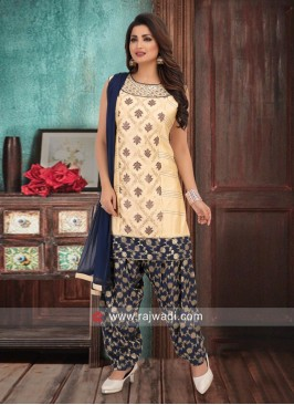 Stone Work Patiala Suit