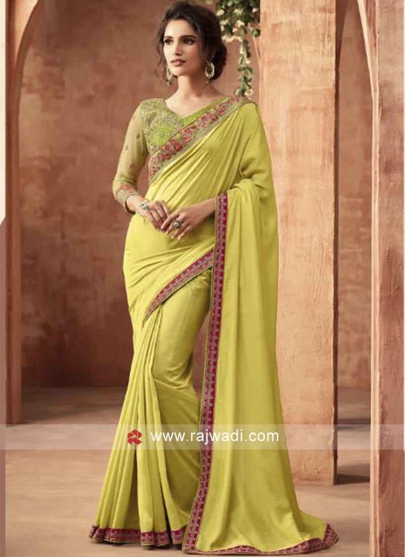 Stone Work Saree with Blouse
