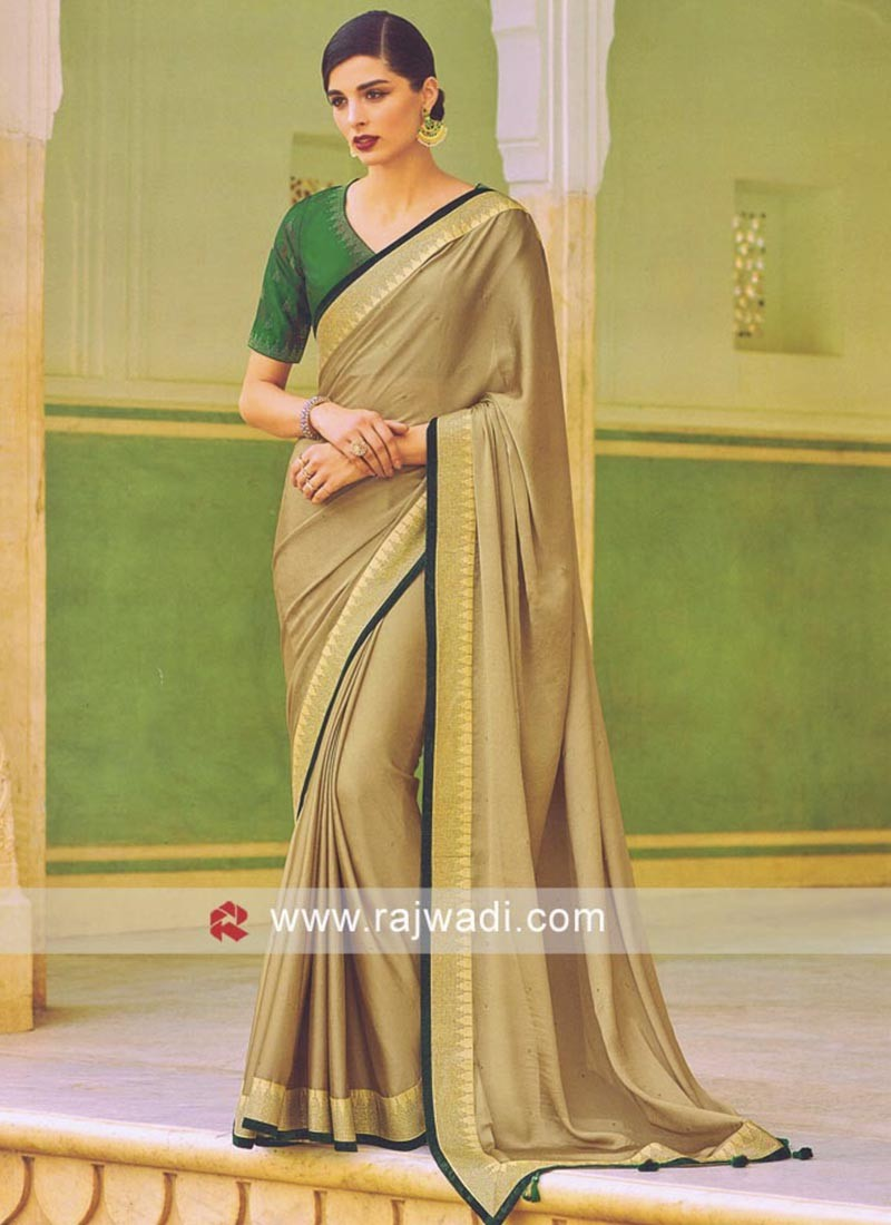 Stone Work Satin Silk Saree