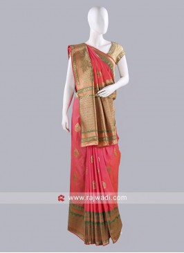 Stone Work Silk Saree