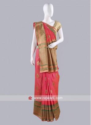 Stone Work Silk Saree