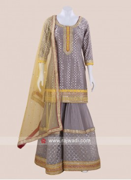 Stone Work Wedding Gharara Salwar Kameez