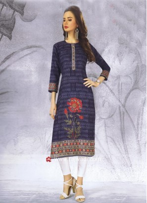 Straight Fit Cotton Kurti