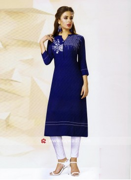 Straight Fit Cotton Silk Kurti
