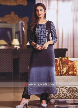 Straight Fit crepe Silk kurti