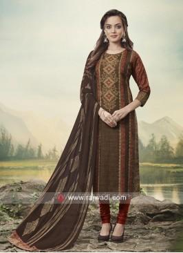 Straight Fit Jute Silk Salwar Suit