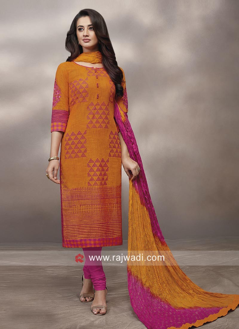 Straight Fit Party Wear Salwar Suit