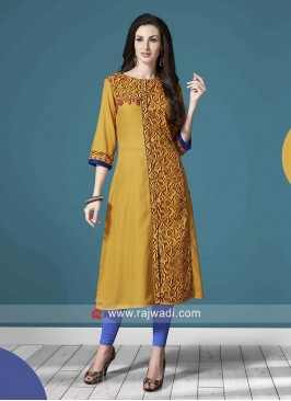 Straight Fit Printed Kurti