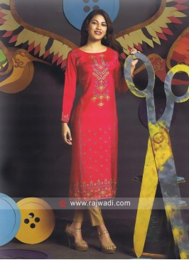 Straight Fit Printed Long Kurti